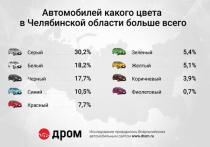 В Челябинской области каждый третий автомобиль серого или серебристого цвета