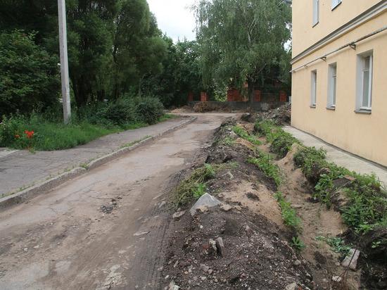 Разбитую дорогу в Пскове на Герцена собираются отремонтировать