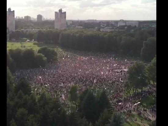 В Минске начался многотысячный митинг Тихановской