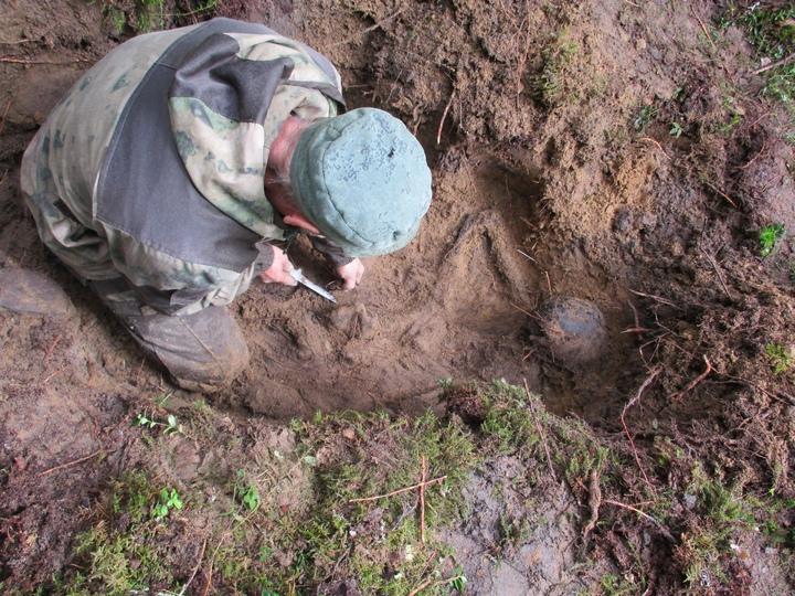 В Тверской области обнаружили захоронение советского солдата