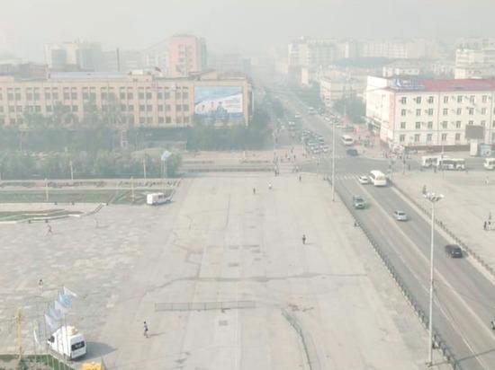Якутск окутало дымом от лесных пожаров