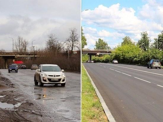 На месяц раньше срока сдали дорогу под Крестовским путепроводом в Пскове