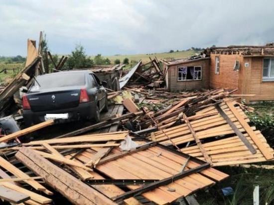 В Кировской области смерч сорвал крыши домов и уничтожил скот