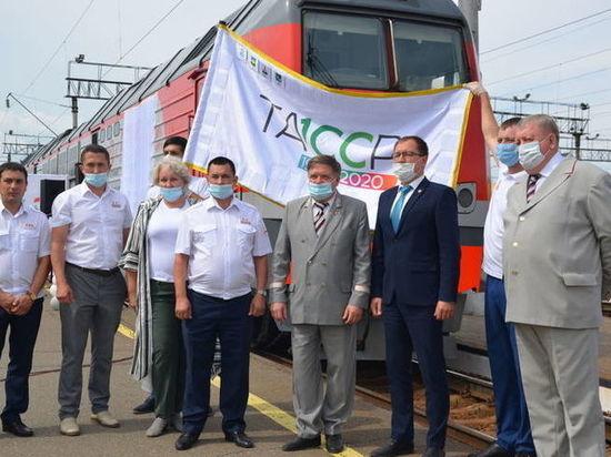 Агрыз торжественно принял эстафету флага 100-летия ТАССР