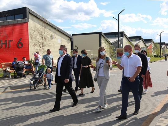 Мэр Липецка посетила Воронеж