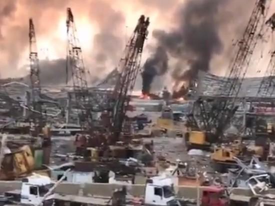 Появилось видео панорамы уничтоженного взрывом порта Бейрута
