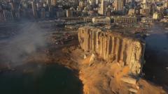 Бейрут в руинах после колоссального взрыва сняли с квадрокоптера