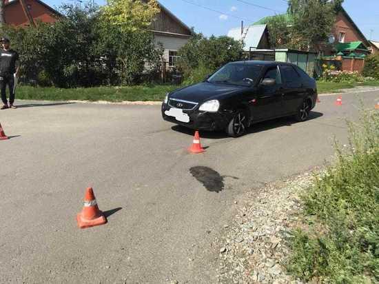В Новосибирске машина сбила 9-летнего ребенка на спортивном мотоцикле