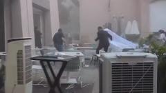Опубликовано видео невесты, накрытой взрывом в Бейруте