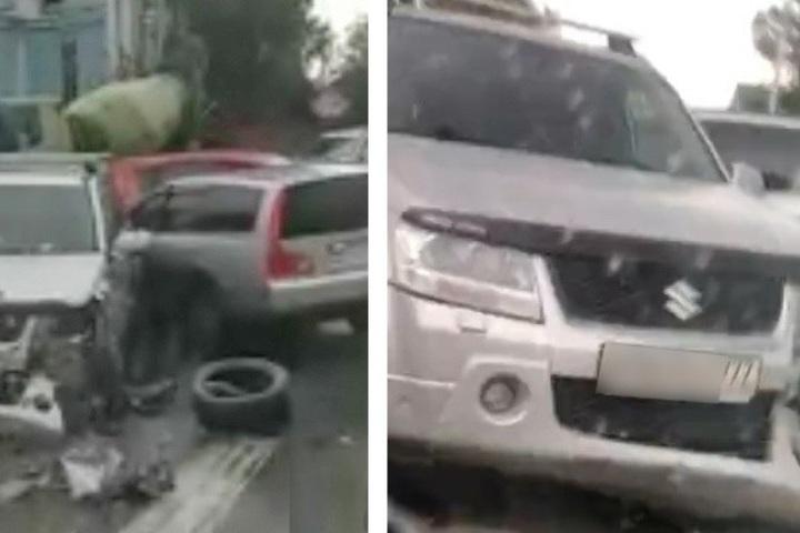 Серьезная авария заблокировала улицу Автогенную в ...