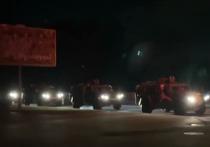 Житель белорусского Минска снял на видео, на котором в город стекается военная техника перед выборами президента Белоруссии