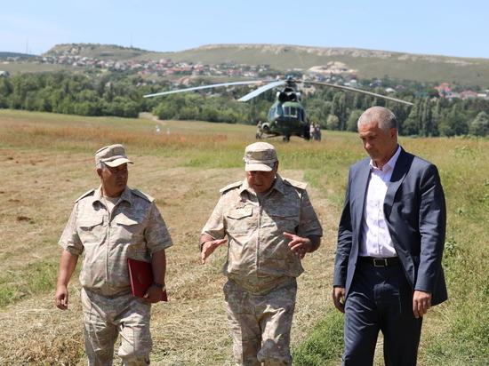 Военные построили трубопровод для переброски воды вСимферополь
