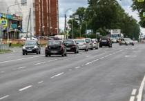 Рижский проспект в Пскове: геосетка на трассе, велодорожки на тротуарах