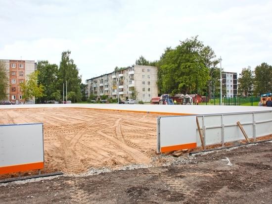 Новый школьный стадион на Завеличье будет открыт для всех желающих