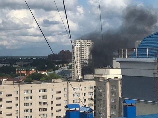 Ивановцы удивлены дымом, поднимающимся из центра города