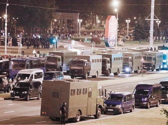 Силовики разогнали протестующих на проспекте Дзержинского в Минске