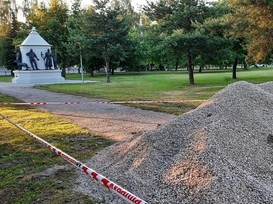 У памятника пограничникам в Пскове установят подсветку