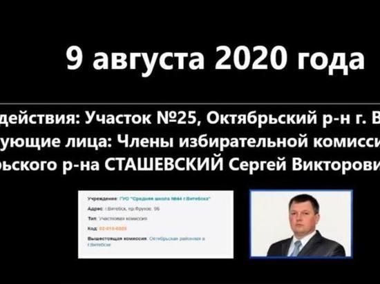 Председатель участковой избирательной комиссии в Витебске признал, что итоговый протокол голосования был переписан в пользу Александра Лукашенко, хотя изначально победу на этом участке одержала оппозиционный кандидат Светлана Тихановская