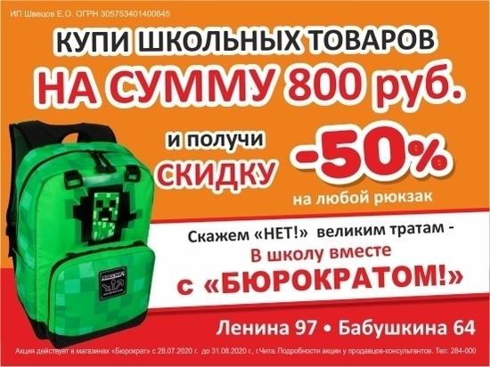Со спинкой и скидкой: «Бюрократ» в два раза снизил цены на школьные рюкзаки