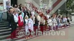 Пронзительное видео из Белоруссии показало поющий протест филармонии