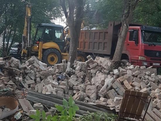 В Иванове начали сносить бесхозные постройки, представляющие угрозу безопасности