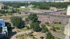 Видео моря людей у Стелы в Минске поразило масштабом протеста