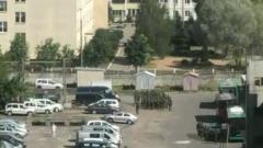 Появились кадры военных, занимающих белорусскую телерадиокомпанию