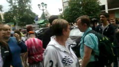 Появились кадры эвакуации, прервавшей заседание по делу Ефремова