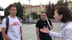 В Минске запечатлен диалог между сторонниками Лукашенко и оппозиционером