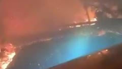 Страшный пожар в Калифорнии сняли на видео: дорога в преисподнюю