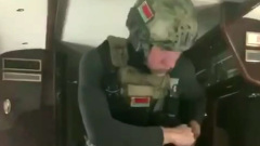Коля Лукашенко с оружием попал на видео из вертолета отца