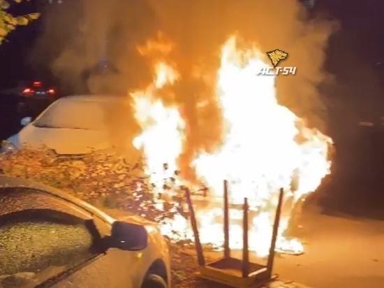 Ночной пожар в новосибирском ЖК «Европейский берег» заполонил соцсети