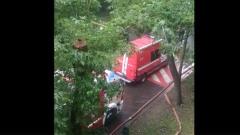 На улице Кубинка в Москве прогремел взрыв: видео с места