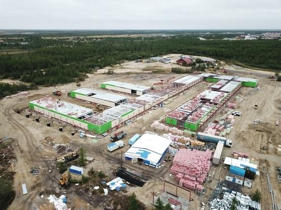 В Новом Уренгое новый госпиталь для лечения COVID-19 готов на 70%