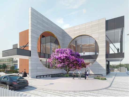 В современном здании можно будет сделать эффектные фото