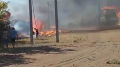 Колтубанка Бузулукского района во власти пламени