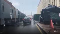 Появилось наводящее страх видео ввода спецтехники в Минск