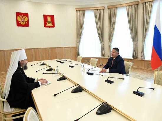 Игорь Руденя провел первую официальную встречу с новым митрополитом