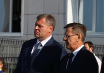 Два губернатора Астраханской области открыли новую школу в Началово