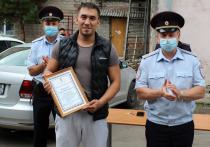 Житель Абакана получил благодарность от МВД за спасение женщины