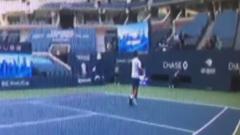Опубликовано видео удара Новака Джоковича мячом по судье
