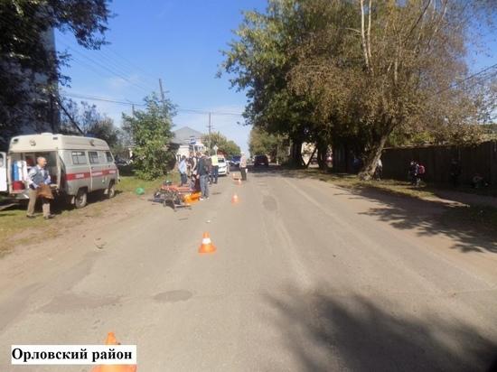В Орлове пьяный водитель ВАЗа сбил мопедиста