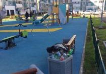В Новом Уренгое после проверки Воронова наведут чистоту на новой детской площадке
