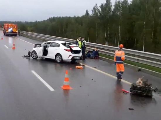 Опубликовано видео с места ДТП с пострадавшими в Тверской области