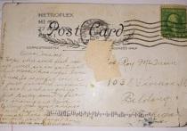 Жительница американского Мичигана получила по почте открытку, отправленную почти 100 лет назад, сообщает CNN