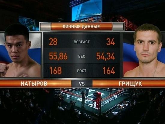 Боксер из Калмыкии победил соперника из Украины техническим нокаутом
