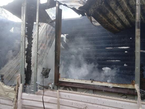 Под Малоярославцем сгорел коттедж