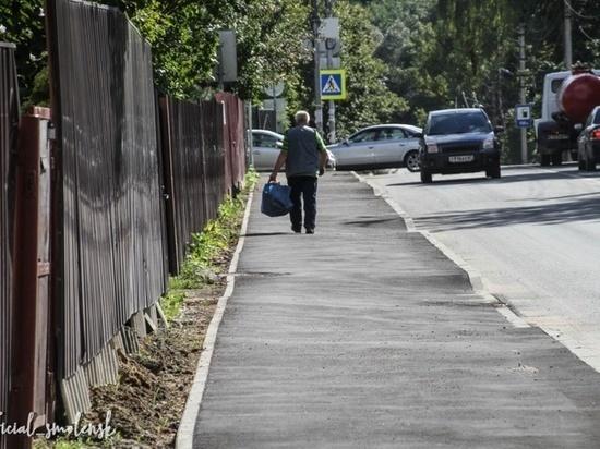В Смоленске на Марины Расковой теперь есть новые дороги и тротуары