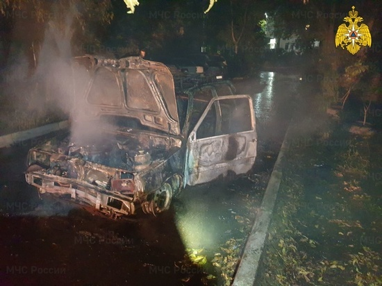 Две машины сгорели за ночь в Калуге