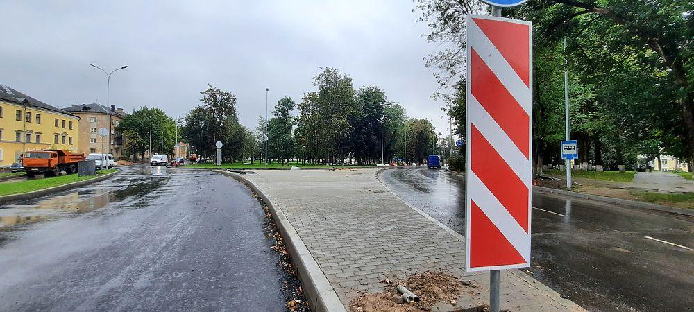 Круговое движение открыли на важном перекрестке в Пскове